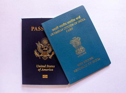 A view of the Overseas Citizen of India Card issued to non-resident Indians. File