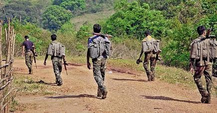 Greyhound constables of Andhra Pradesh Police at Jerrela, an interior tribal village in Visakhapatnam district, during their combing operation against Maoists.
