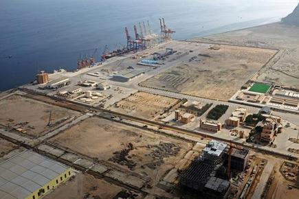A view of Gwadar port in Pakistan