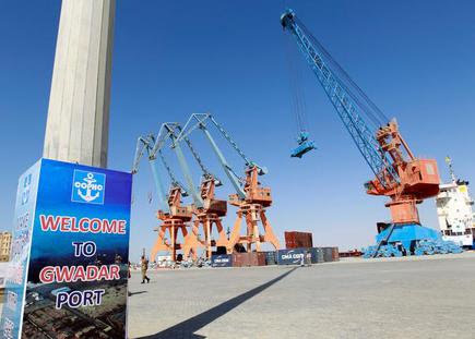 A general view of the port before the inauguration of the China-Paistan Economic Corridor port. File