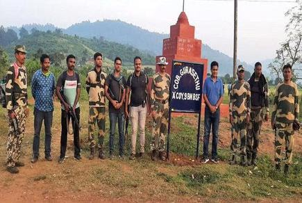 BSF personnel at Gurasethu company operating base in cut off region in AOB.