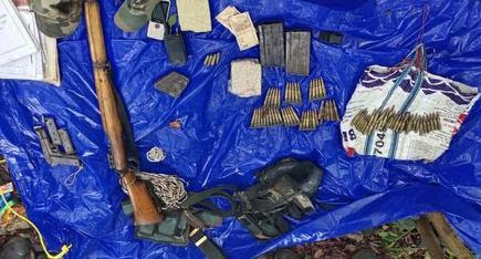Weapons recovered from the July 28, 2020 exchange of fire between the police and Maoists under Annavaram Police Station limits in Visakhapatnam agency.