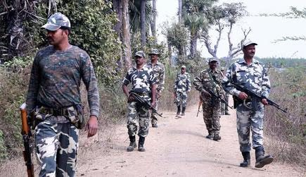Central Reserve Police Force (CRPF) personnel are engaged in combing operation near Dummugudem of Bhadradri Kothagudem District | File
