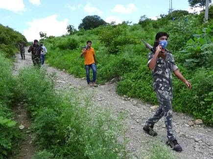 Special police patrol the forests in Kumuram Bheem Asifabad district of Telangana. File photo